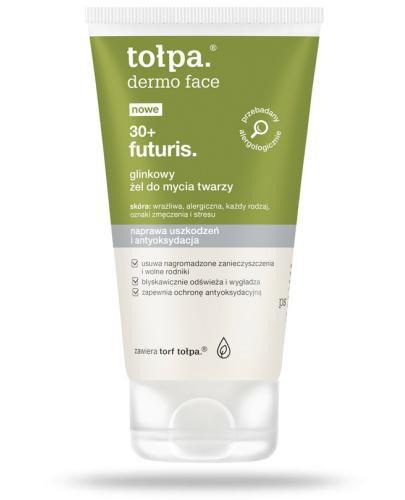 Tołpa Dermo Face Futuris 30+ glinkowy żel do mycia twarzy 150 ml