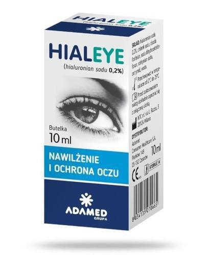 Hialeye nawilżenie i ochrona oczu 0,2% krople do oczu 10 ml