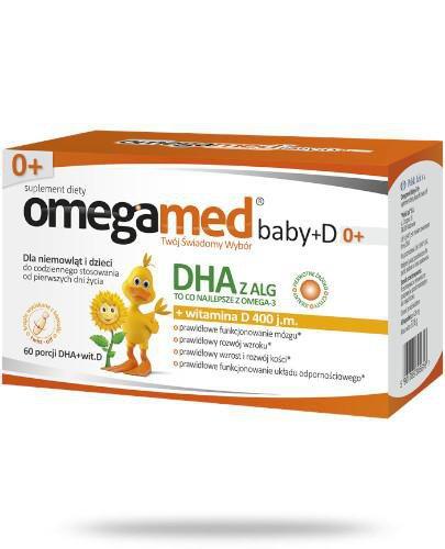 Omegamed Baby+D DHA z ALG + witamina D 0m+ 60 kapsułek
