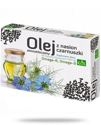 GAL Zimnotłoczony olej z nasion czarnuszki 60 kapsułek