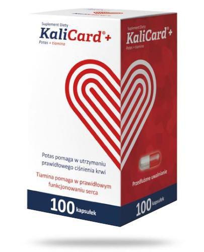 KaliCard+ Potas + tiamina 100 kapsułek   whited-out