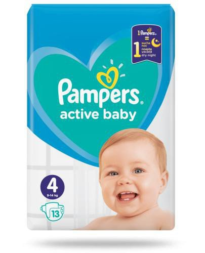 Pampers Active Baby 4 pieluchy 9-14 kg 13 sztuk