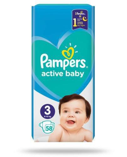 Pampers Active Baby 3 pieluchy 6-10 kg 58 sztuk