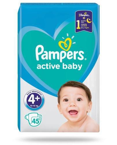 Pampers Active Baby 4+ pieluchy 10-15 kg 45 sztuk