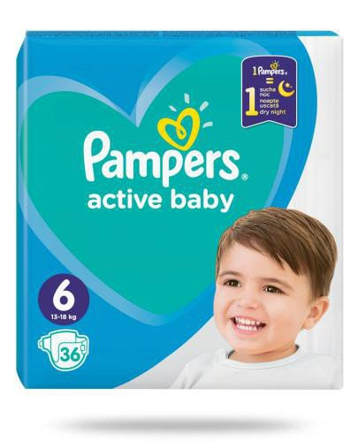Pampers Active Baby 6 pieluchy 13-18 kg 36 sztuk