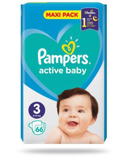 Pampers Active Baby 3 pieluchy 6-10 kg 66 sztuk