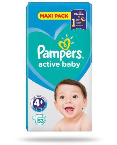 Pampers Active Baby 4+ pieluszchy 10-15 kg 53 sztuki