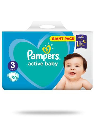 Pampers Active Baby 3 pieluchy 6-10 kg 90 sztuk