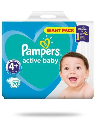 Pampers Active Baby 4+ pieluchy 10-15 kg 70 sztuk