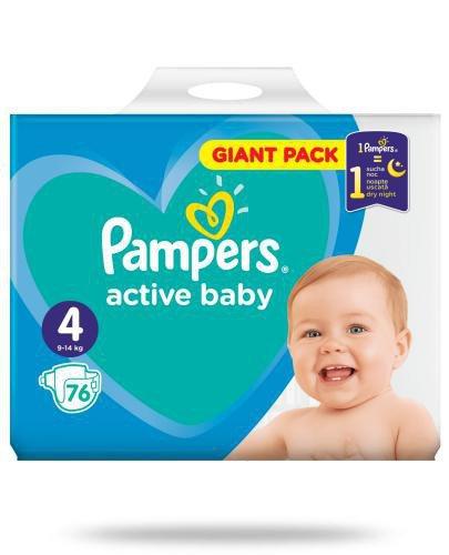 Pampers Active Baby 4 pieluchy 9-14 kg 76 sztuk