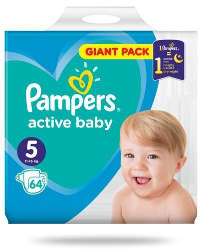 Pampers Active Baby 5 pieluchy 11-16 kg 64 sztuki