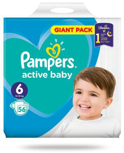 Pampers Active Baby 6 pieluchy 13-18 kg 56 sztuk