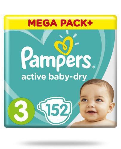 Pampers Active Baby-Dry 3 pieluchy 5-9 kg 152 sztuki