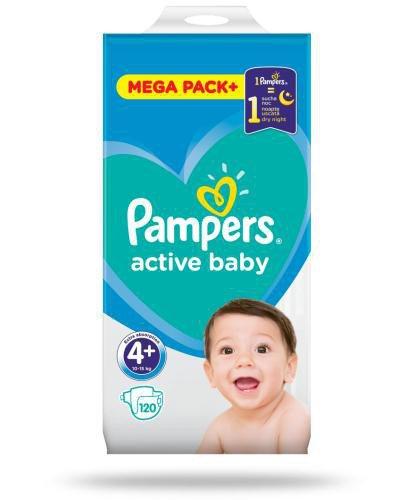 Pampers Active Baby 4+ pieluchy 10-15 kg 120 sztuk