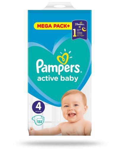 Pampers Active Baby 4 pieluchy 9-14 kg 132 sztuki