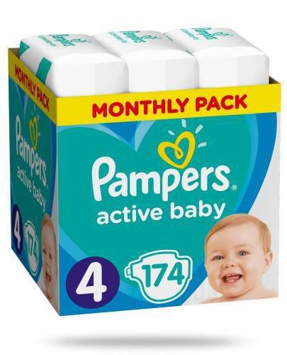 Pampers Active Baby 4 pieluchy 9-14 kg 174 sztuki
