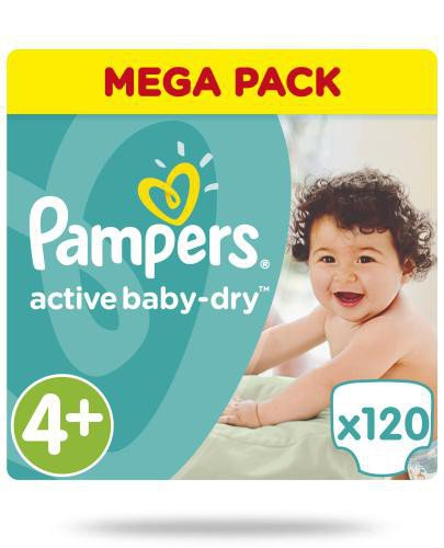 Pampers Active Baby-Dry 4+ pieluchy 9-16 kg 120 sztuk