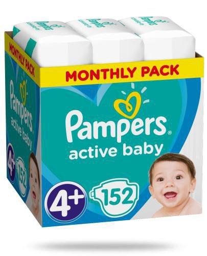 Pampers Active Baby 4+ pieluchy 10-15 kg 152 sztuki