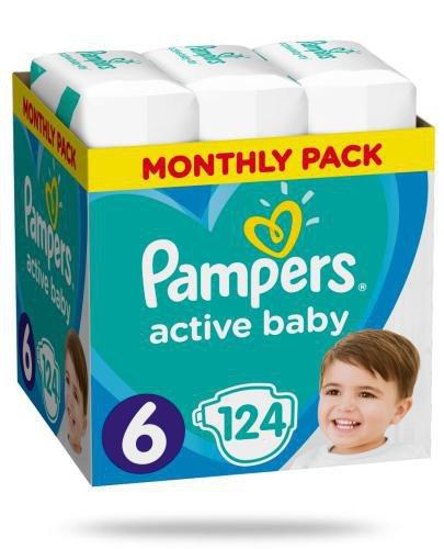 Pampers Active Baby 6 pieluchy 13-18 kg 124 sztuki