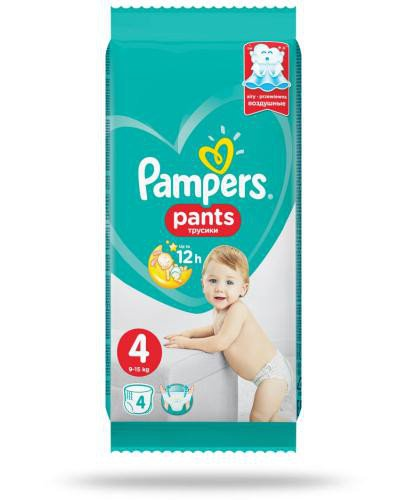 Pampers Pants 4 pieluchomajtki 9-15 kg 4 sztuki  whited-out