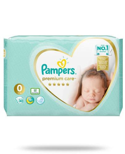 Pampers Premium Care 0 pieluchy 3 kg 30 sztuk  whited-out