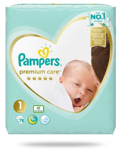 Pampers Premium Care 1 pieluchy 2-5 kg 78 sztuk  whited-out