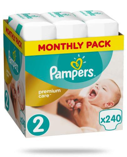 Pampers Premium Care 2 pieluchy 4-8 kg 240 sztuk  whited-out