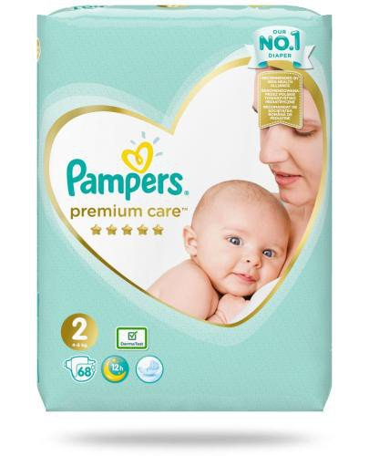 Pampers Premium Care 2 pieluchy 4-8 kg 68 sztuk  whited-out