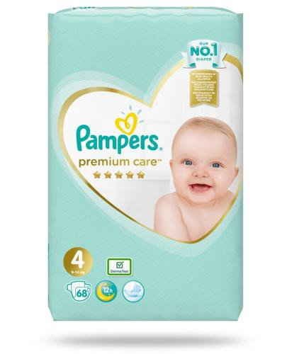 Pampers Premium Care 4 pieluchy 9-14 kg 68 sztuk  whited-out