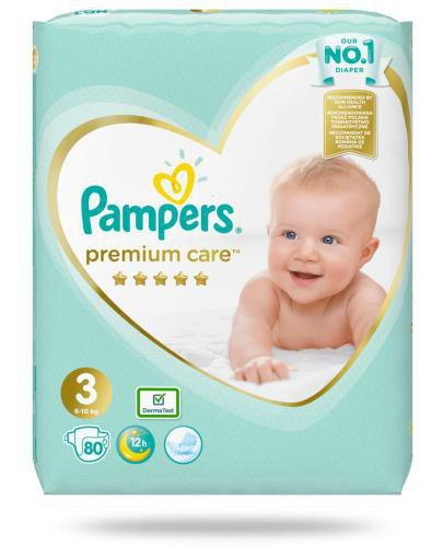 Pampers Premium Care 3 pieluchy 6-10 kg 80 sztuk  whited-out