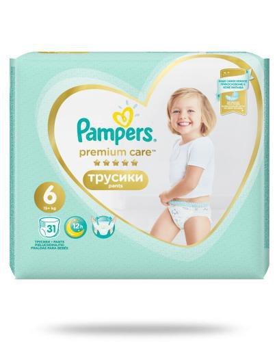 Pampers Premium Care Pants 6 pieluchomajtki 15+ kg 31 sztuk