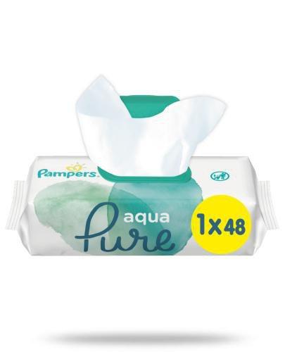 Pampers Aqua Pure Chusteczki nawilżane dla niemowląt 48 sztuk