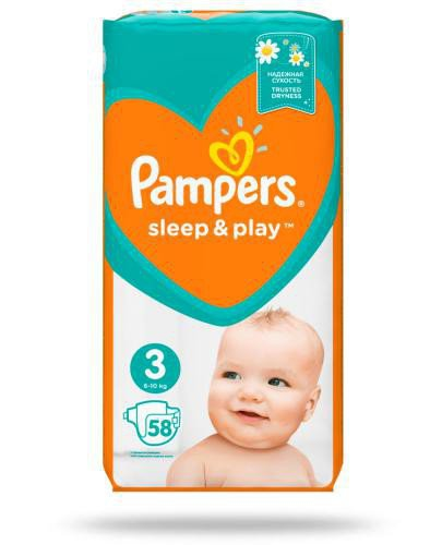 Pampers Sleep&Play 3 pieluchy 6-10 kg 58 sztuk
