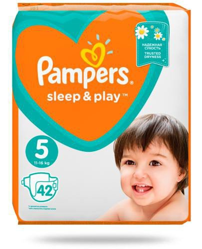 Pampers Sleep&Play 5 pieluchy 11-16 kg 42 sztuki  whited-out