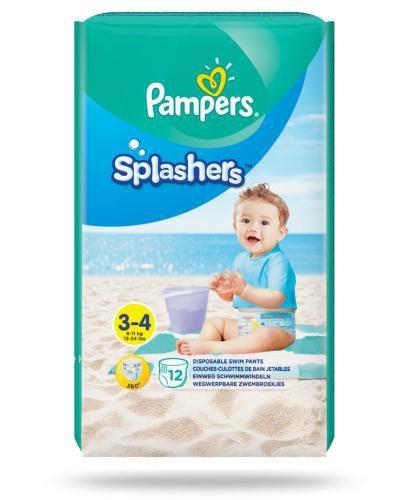 Pampers Splashers 3-4 pieluchy do pływania 6-11 kg 12 sztuk  whited-out