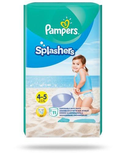 Pampers Splashers 4-5 pieluchy do pływania 9-15 kg 11 sztuk  whited-out