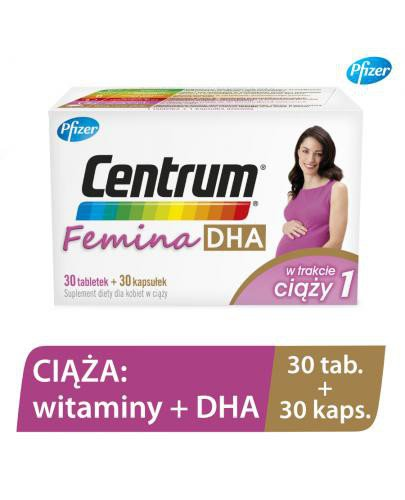 Centrum Femina 1 DHA – witaminy dla kobiet w ciąży z DHA 30 tabletek + 30 kapsułek