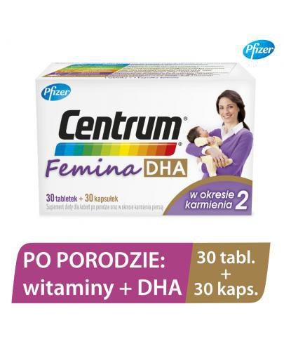 Centrum Femina 2 DHA – witaminy dla kobiet po porodzie z DHA 30 tabletek + 30 kapsułek