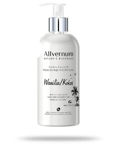 Allvernum nawilżające mydło do rąk i pod prysznic wanilia - kokos 300 ml  + Mydło kor...