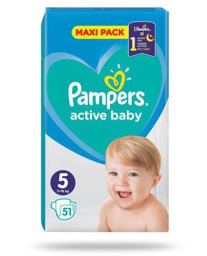 Pampers Active Baby 5 pieluchy 11-16 kg 51 sztuk
