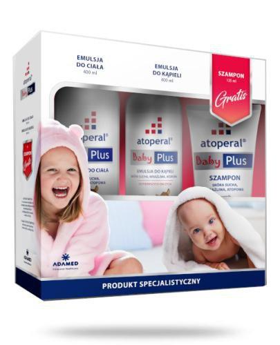 Atoperal Baby Plus emulsja do ciała 400 ml + emulsja do kąpieli 400 ml + szampon do wło...  whited-out