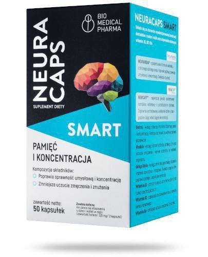 Neuracaps Smart pamięć i koncentracja 50 kapsułek