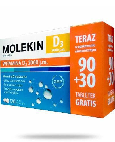 Molekin D3 2000 120 tabletek