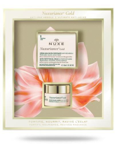 Nuxe Nuxuriance Gold ultraodżywczy olejkowy krem do twarzy 50 ml + Rozświetlający balsa...