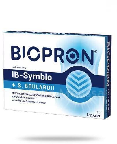 Biopron IB-Symbio + S.Boulardii 15 kapsułek