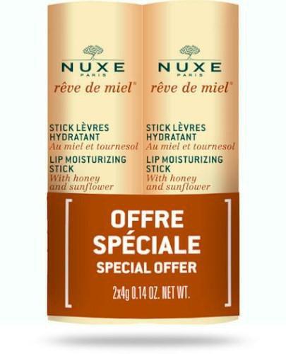 Nuxe Reve de Miel nawilżająca pomadka 2 x 4 g [DWUPAK]