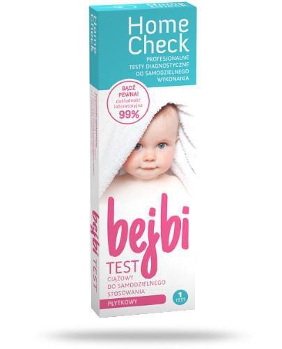 Home Check Bejbi płytkowy test ciążowy do samodzielnego stosowania 1 sztuka