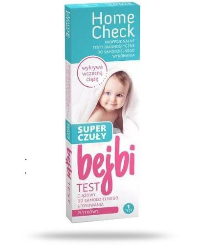 Home Check Bejbi super czuły płytkowy test ciążowy do samodzielnego stosowania 1 sztuk...