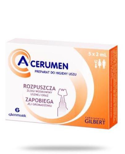 A-Cerumen Ampułki preparat do higieny uszu 5x 2 ml  whited-out