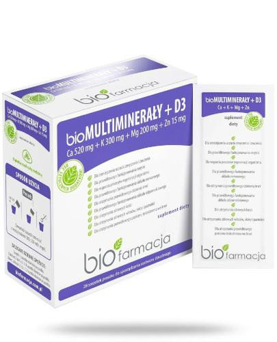 Biofarmacja BioMultiminerały + D3 28 saszetek